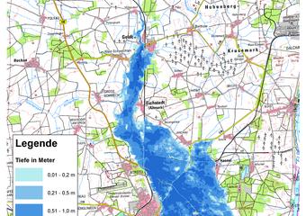 Deichbruch-Szenario L2 Hämertscher Deich - Ausbreitung nach 72 Stunden