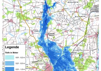 Deichbruch-Szenario L2 Hämertscher Deich - Ausbreitung nach 96 Stunden