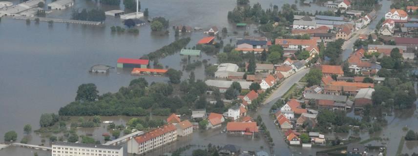 Luftbild vom Hochwasser 2013 in Fischbeck (Elbe) ©Edgar Kraul © Edgar Kraul